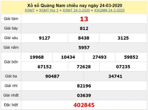 Phân tích kqxs Quảng Nam 31/3/2020, chốt số dự đoán xs hôm nay