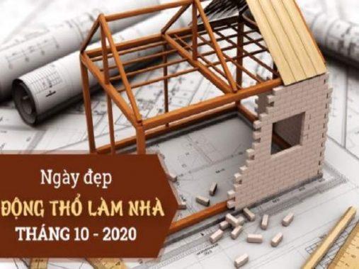 Xem ngày tốt động thổ, xây nhà tháng 10/2020 cho 12 con giáp