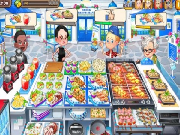 game bán hàng Cooking Adventure