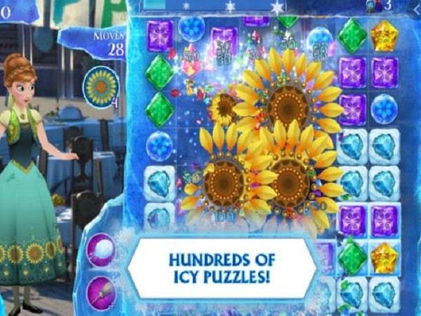 game xếp hình Frozen Free Fall