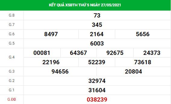 Phân tích XSBTH 3/6/2021 hôm nay thứ 5 chính xác đầy đủ