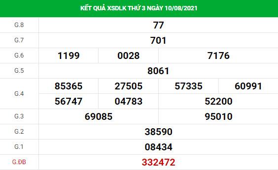 Phân tích XSDLK ngày 17/8/2021 hôm nay thứ 3 chính xác